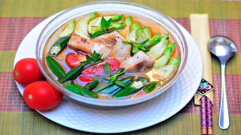 Kết quả hình ảnh cho canh chua cá hồi