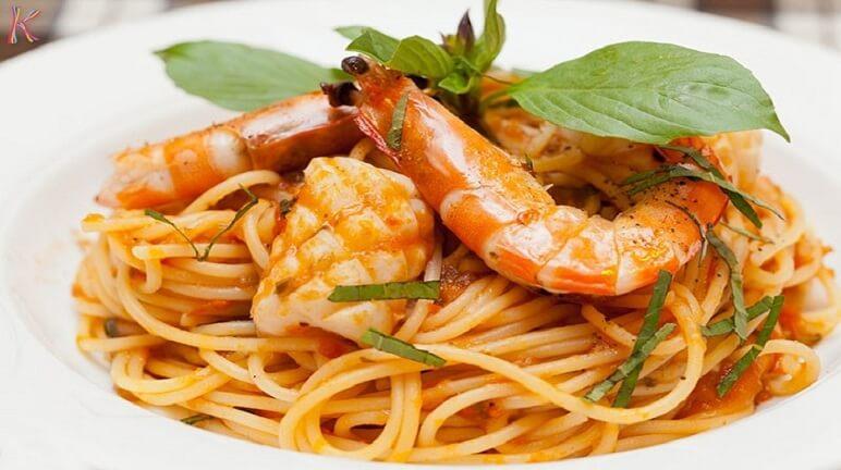 Cách làm spaghetti hải sản đổi món cuối tuần