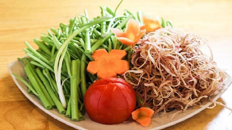 Các loại rau ăn lẩu Thái làm cho món lẩu trở nên hoàn hảo
