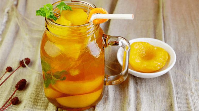 Cách làm trà đào giải khát ngày hè ngay tại nhà