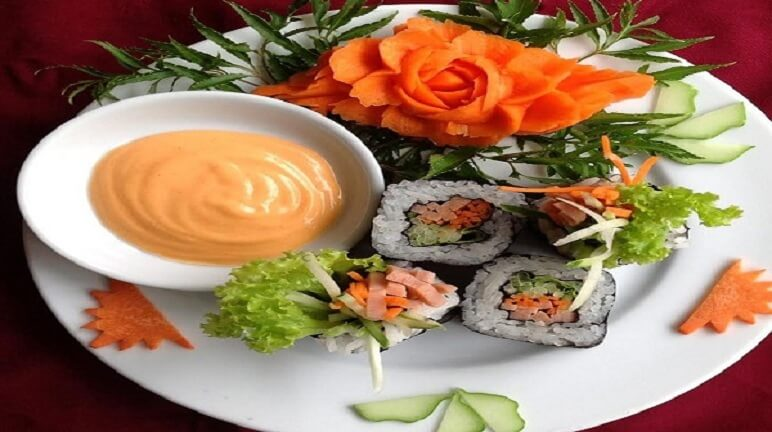 Thay khẩu vị mới với cách làm sushi chay ngon lạ miệng