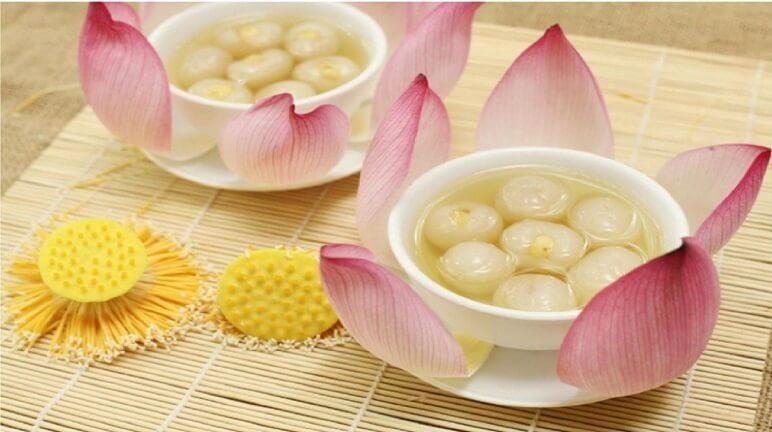 Thơm ngọt với cách nấu chè vải hạt sen