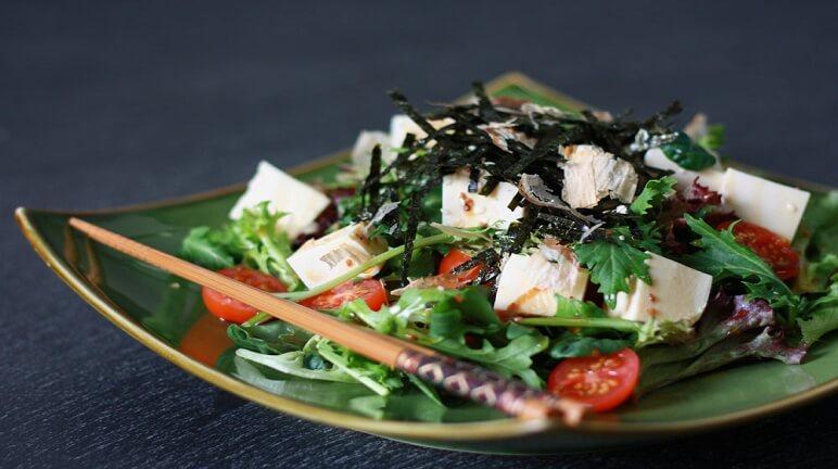 Cách làm salad đậu hũ Nhật Bản cho bữa ăn thanh nhẹ