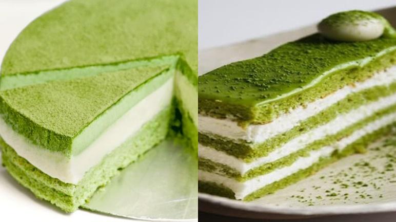 Cách làm bánh gato trà xanh nhiều lớp ăn là ghiền