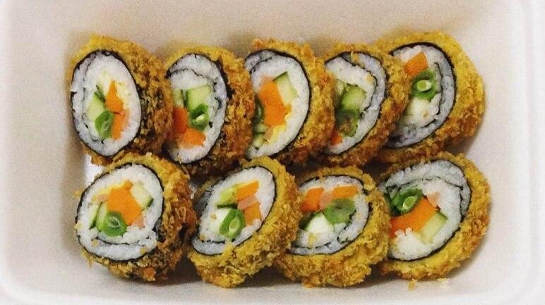 Kết quả hình ảnh cho sushi cuộn chiên xu